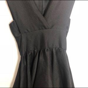 Maje Dresses - Maje Revely Black Banded Organza Mini Dress